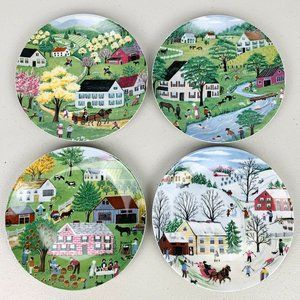 VTG 1930 Four Seasons Plates Bavaria West Germany